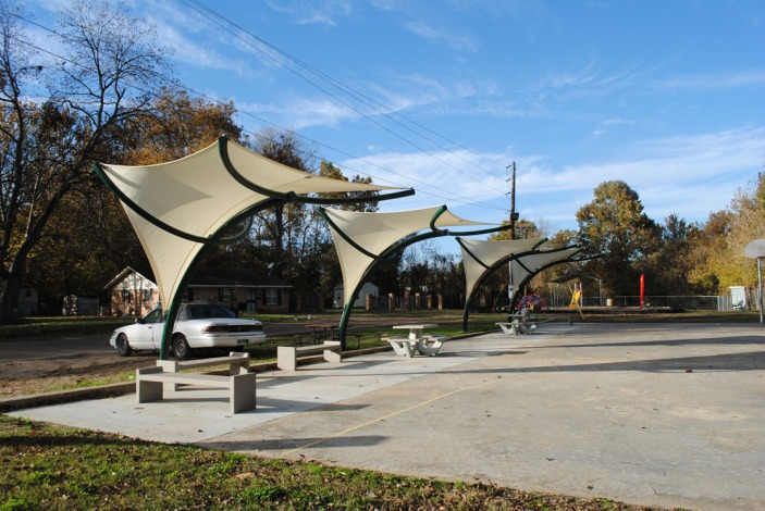 Large park and playground
